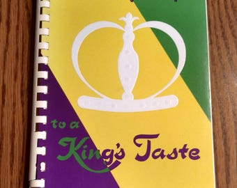 Carnival of Recipes to a King's Taste Vintage 1966 Mardis Gras Recipes Cookbook
