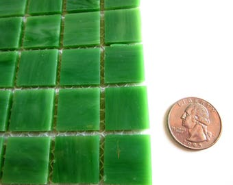 50 Green Mosaic Tiles, Square Green Tiles, BRight Green Tiles, Green Square Tiles, Square Mosaic Pieces, Green Mosaic Pieces, Tiles Green