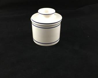 Vintage Ceramic Butter Keeper, Butter Crock