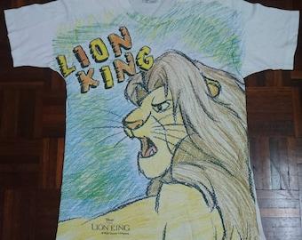 Tshirt The lion king (vintage and fullprint)