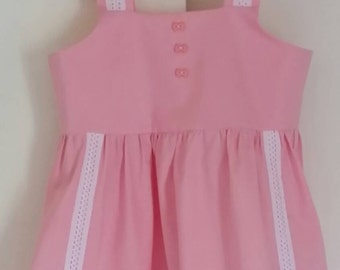 4t pink strap dress