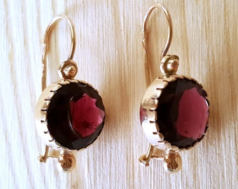ON SALE... True Beauties Stunning Rare Rhodolite Garnet 14k Rose Gold Drop Earrings. Rhodolite Garnet 14k. Rose Gold 14k