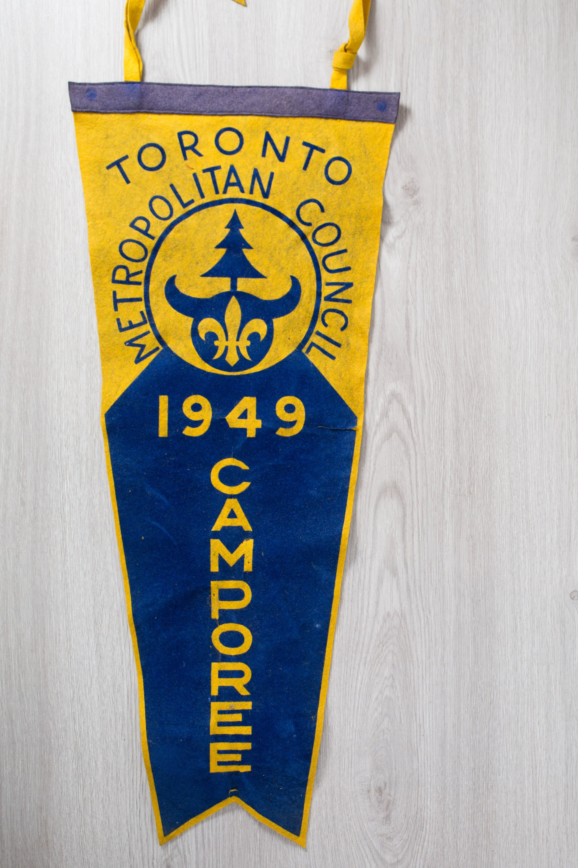 Large Vintage Toronto Pennant / 1940\'s Felt Souvenir Hanging ...