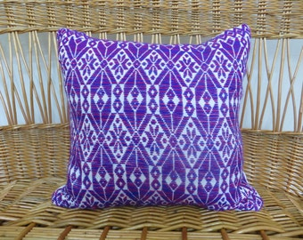 "Hand Embroidered Mexican 18""x18"" pillow from San Miguel de Allende. Graphic Design, Bohemian Modern, Boho Home Decor, Global Textiles"