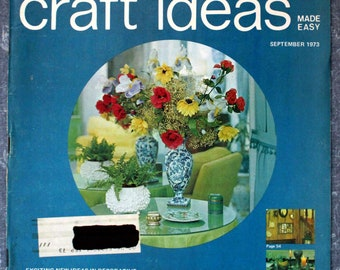 Decorating & Craft Ideas Made Easy September 1973 CR0126