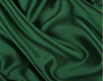Green/Black Silk/Wool Gab, Fabric By The Yard