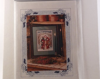 Father Christmas cross stitch chart from The Vanessa-Ann Collection