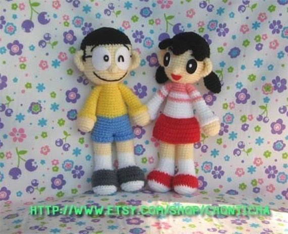 Amigurumi Doraemon Free Pattern : Nobita and shizuka pdf crochet pattern