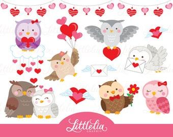 Valentine owl clipart - owl clipart - love clipart - 16097