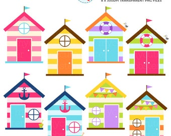 cute houses clipart set clip art set of little houses rh etsy com tree house images clipart house image clipart black and white