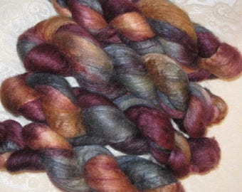 Handpainted Roving -- BFL Wool and Silk