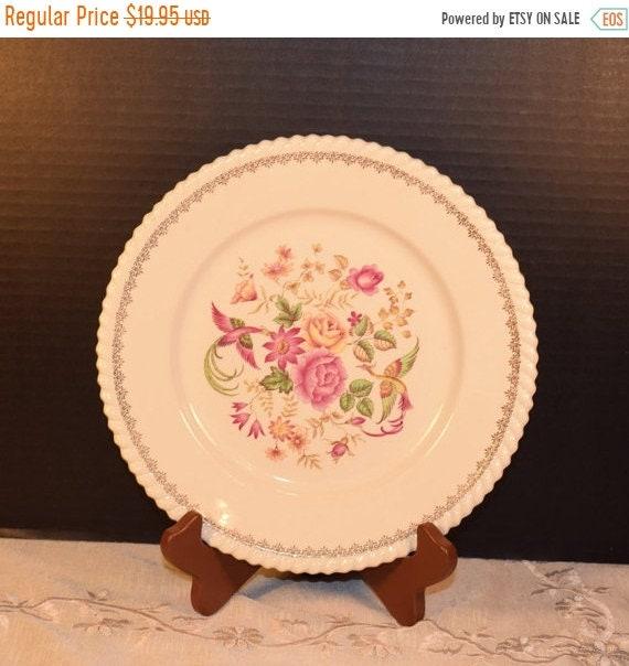 Delayed Shipping Badonviller Bilbao Plates 4 Vintage KG Luneville French Lunch Salad Plates set of 4 Keller Guerin France China Pink Wedding
