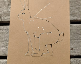 Aquarius Jack Rabbit Constellation Original