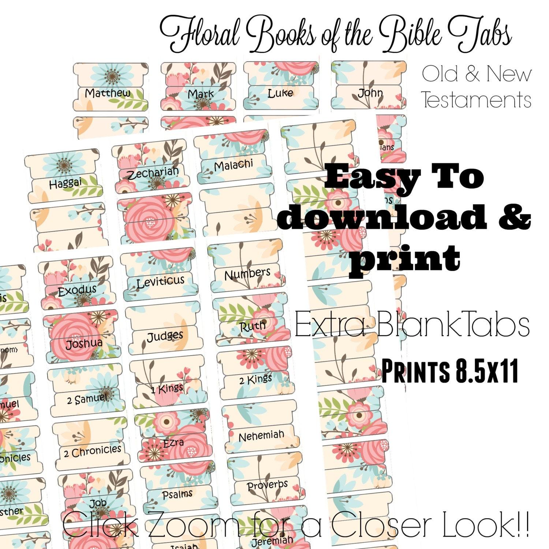 Well-known Bible Tabs Printable Bible Tabs Bible Journaling tabs PE97