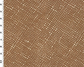 Rust Brown Woven Texture Print Home Decorating Fabric, Fabric By The Yard