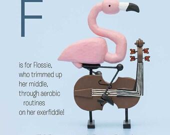 flamingo on an exerfiddle
