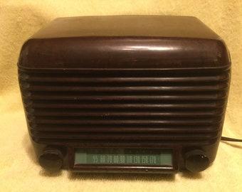 1947 en bakélite vintage Firestone Air Tube chef Radio