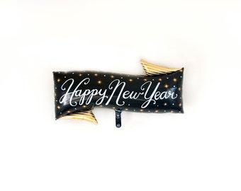 Happy New Year Balloon Banner