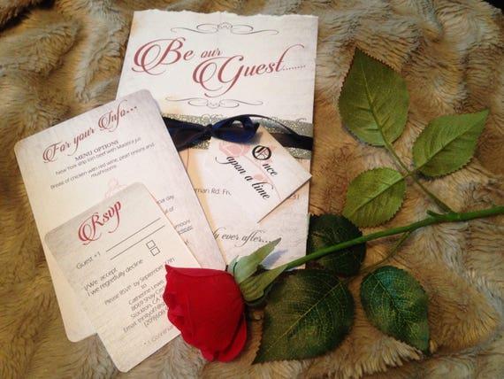Beauty The Beast Wedding Invitations