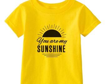 You Are My Sunshine - Multiple Color Options Available- Kids Birthday Shirt - Sunshine Shirt - Loving Kids Shirts - Kids Gifts