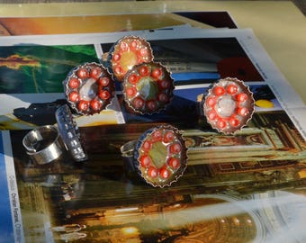 Ring - recycled beer caps