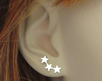Boucles d'oreilles étoile • grimpeur • étoile filante boucles d'oreilles • Boucles d'oreilles étoile Triple • étoiles filantes • boucles d'oreilles étoile • Multi étoile boucle d'oreille