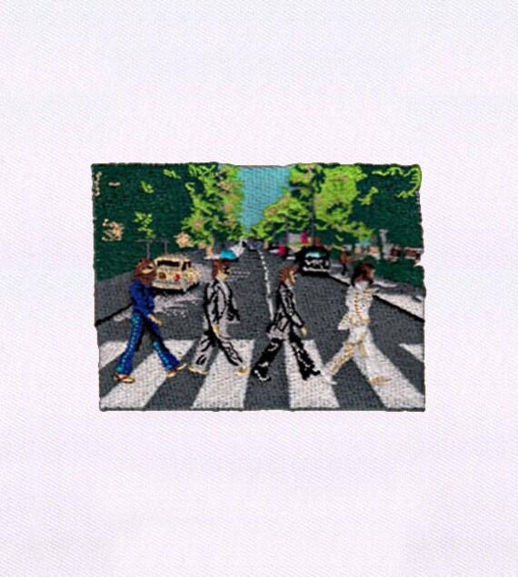 Road Album Cover Beatles Embroidery Design 4x4 Hoop