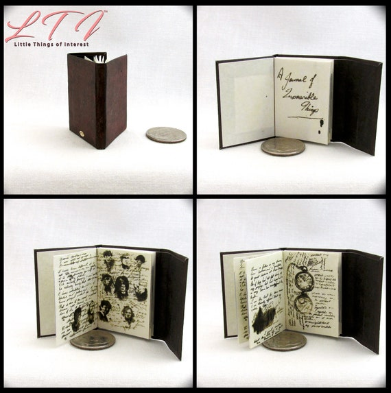 JOURNAL Of IMPOSSIBLE THINGS Miniature Book Readable Illustrated Book 1:6 Scale Phicen Doctor Who Science Fiction Fantasy Television Show