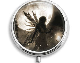 Fairy Goddess Pill Box Case Trinket Box Vitamin Holder Medicine Box Mint Tin Gifts For Her