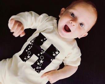 Organic Onesie - Baby Onesie - Babygrow - Personalised Baby Clothes - Infant One Piece - Baby Romper