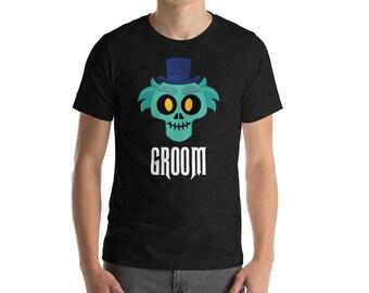 Groom T-Shirt / Haunted Mansion Inspired / Hat Box Ghost Emoji / Disney Inspired Shirt / Honeymoon/Wedding Groom Shirt