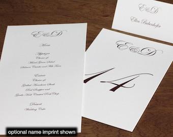 Ellen Menu, Table Marker & Place Card Set