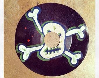 Poison Sound- original painting on warped vinyl record.