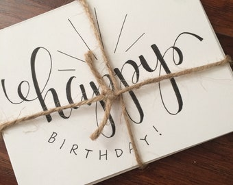 Handlettered Cards   Birthday   Thank You   Encouragement   Custom