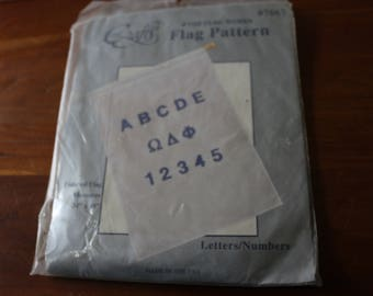 30 Flag pattern finished Size 34 x 28. Never used.