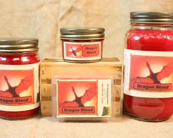 Dragon Blood Scent Candles and Wax Melts, Scented Candle Wax, Highly Scented Candles and Wax Tarts, Great Unique Scent, Halloween Candle