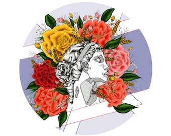 Floral Goddess Sticker
