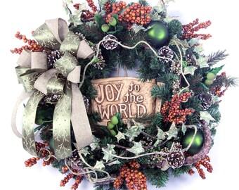 Christmas Wreaths-Holiday Wreaths For Sale-Rustic Christmas Wreath For Door-Evergreen Wreath For Door-Christmas Decor-Holiday Decor