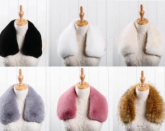 Faux fur collar, brown faux fur collar,detachable faux fur collar,DIY faux fur collar TZ2070