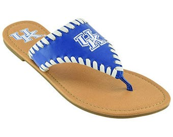 New University of Kentucky Wildcats Women's Whip Stitch Sandals