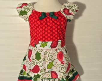 Items similar to girls christmas dress girls holiday dress girls