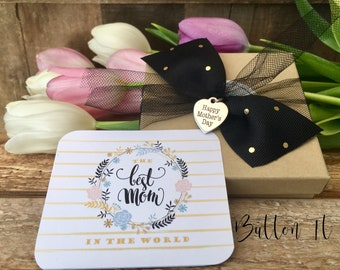 Mother's day gift wrapping, Happy Mother's Day, Mother's day gift tag, Mother's day packaging, ADD on to a current Buttonit order