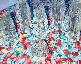 6pc Glass nativity scene