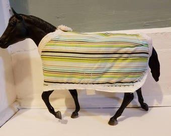 Striped model horse blanket