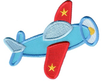 Airplane Iron-On Patch Applique - Kids / Baby