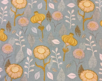 Blend fabrics Timber and leaf in duck egg By The Half Metre