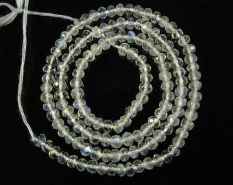 """Rainbow moonstone faceted round beads AAA+ 2.5mm 13"""" strand"""