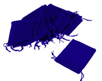 Royal Blue Velveteen Drawstring Gift Pouches Bags  Choose  10  25  50  or 100 Pouches  Choose from 3 Different Sizes