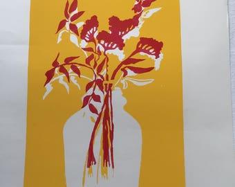 Weeds II, Handmade silkscreen print