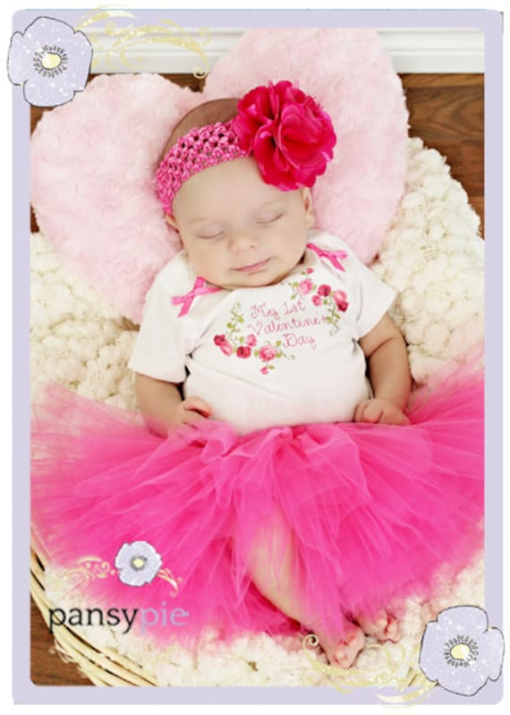 My First Valentineu0027s Day Baby Girl Valentines Outfit Newborn Valentineu0027s  Day Outfit 0 3 ...